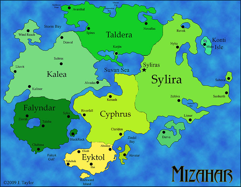 The Regions of Mizahar.