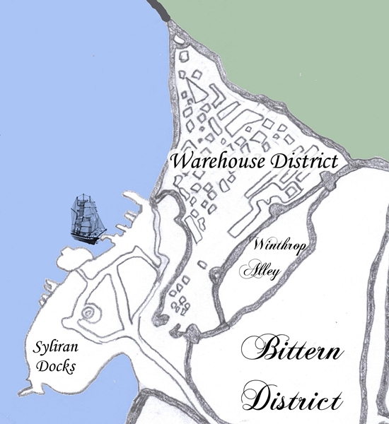 Bittern District, Winthrop Alley, the Warehouse District, and the Docks